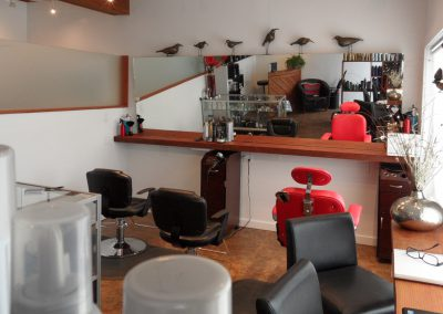 Waves 'N Shaves Salon View with Hand Crafted Birds by Adriana